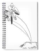 Bmx Dirt Jump Spiral Notebook