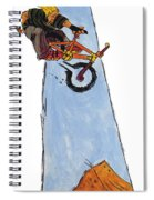 Bmx Drawing Spiral Notebook