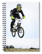 Bmx Racer Goes Airborne Spiral Notebook