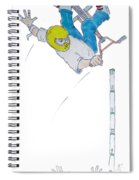 Bmx Vert Drawing Spiral Notebook