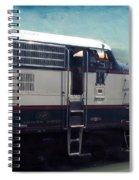 Bn F9 Train Engine Textured Spiral Notebook