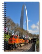 Bnsf Ore Train And St. Louis Gateway Arch Spiral Notebook