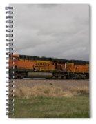 Bnsf Train 5833 A Spiral Notebook