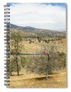 Bnsf4604 Manifest Westbound In The Tehachipi Loop. Spiral Notebook