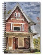 Boarded Up Old Characer Home Watercolor Spiral Notebook