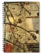 Boarded Windows And Branches Spiral Notebook