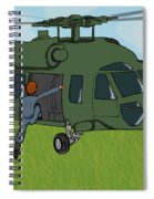 Boarding A Helicopter Spiral Notebook