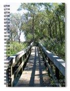 Boardwalk At Tifft Nature Preserve Buffalo New York Spiral Notebook