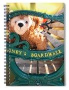 Boardwalk Bear Spiral Notebook