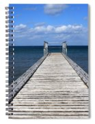 Boardwalk To The Ocean Spiral Notebook