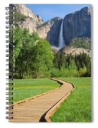 Boardwalk To Yosemite Falls  Spiral Notebook