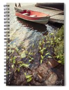 Boat At Dock  Spiral Notebook