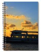 Boat At Sunrise Spiral Notebook