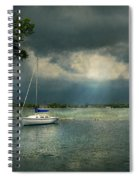 Boat - Canandaigua Ny - Tranquility Before The Storm Spiral Notebook