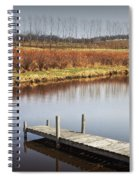 Boat Dock On A Pond In South West Michigan Spiral Notebook