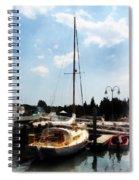 Boat - Docked Cabin Cruiser Spiral Notebook