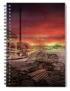 Boat - End Of The Season  Spiral Notebook