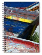 Boat Graveyard Peurto Natales Chile 7 Spiral Notebook