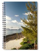 Boat In Port Spiral Notebook