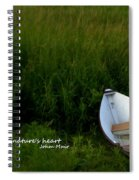 Boat In The Marsh Spiral Notebook