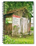 Boat Launch Outhouse - Texture Bw Spiral Notebook