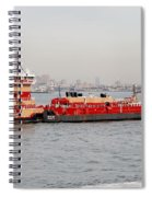 Boat Meet Barge Spiral Notebook