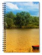 Boat On A Golden Pond Spiral Notebook