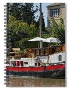 Boat On Canal Du Midi Homps France Dsc01717  Spiral Notebook