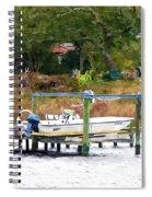 Boat On Dock Spiral Notebook