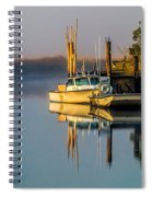 Boat On The Creek Spiral Notebook