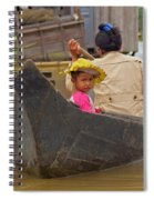 Boat On The River Spiral Notebook