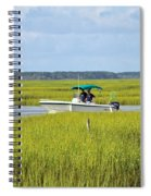 Boat Ride In The Marsh Spiral Notebook