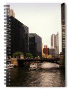 Boat Ride On The Chicago River Spiral Notebook