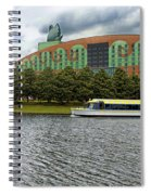 Boat Ride Past The Swan Resort Walt Disney World Spiral Notebook