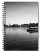 Boat Ride World Showcase Lagoon In Black And White Walt Disney World Spiral Notebook