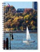 Boat - Sailboat Near Chelsea Pier Spiral Notebook