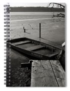 Boat In Ice - Lake Wingra - Madison - Wi Spiral Notebook