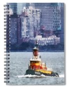Boat - Tugboat By Manhattan Skyline Spiral Notebook