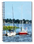 Boat - Two Docked Sailboats Norwalk Ct Spiral Notebook
