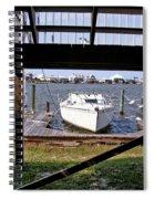 Boat View Under The Stairway Spiral Notebook