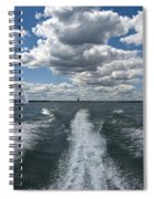 Boat Wake 01 Spiral Notebook