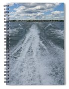 Boat Wake 02 Spiral Notebook