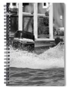 Boat Wake Black And White Spiral Notebook