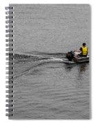 Boat Wake Spiral Notebook