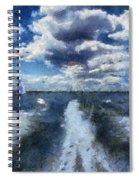Boat Wake Photo Art 02 Spiral Notebook