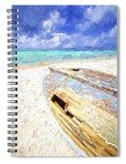 Boat Wreck Of Aruba Spiral Notebook