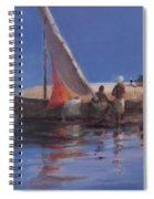 Boat Yard, Kilifi, 2012 Acrylic On Canvas Spiral Notebook