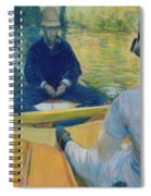 Boaters On The Yerres Spiral Notebook