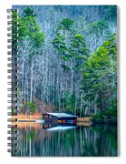 Boathouse On Pinnacle Lake Spiral Notebook