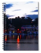 Boathouse Row Along The Schuylkill River At Dawn Spiral Notebook